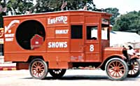 Air calliope in show truck