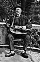 French hurdy gurdy player